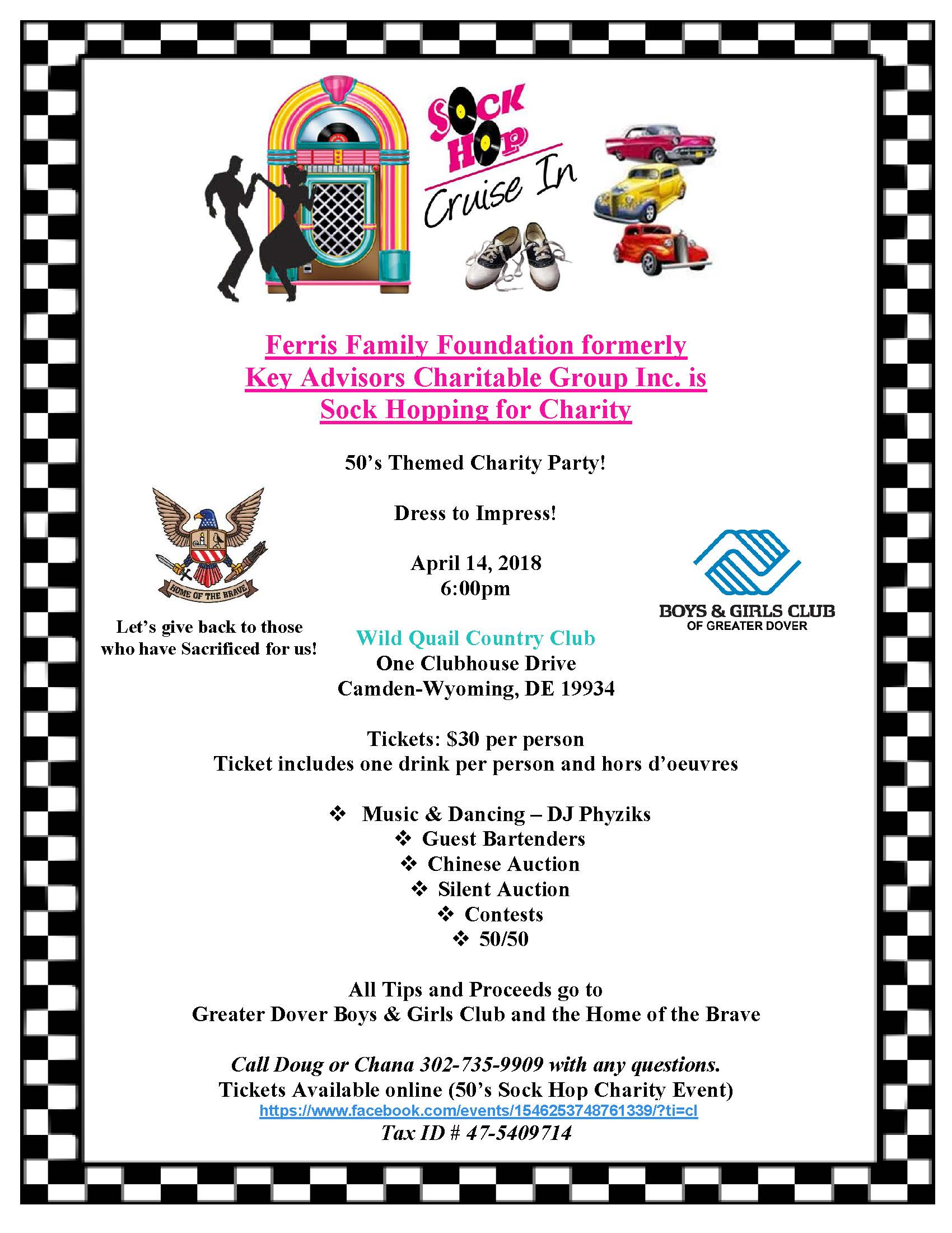 Sock Hop for Greater Dover Boys & Girls Club