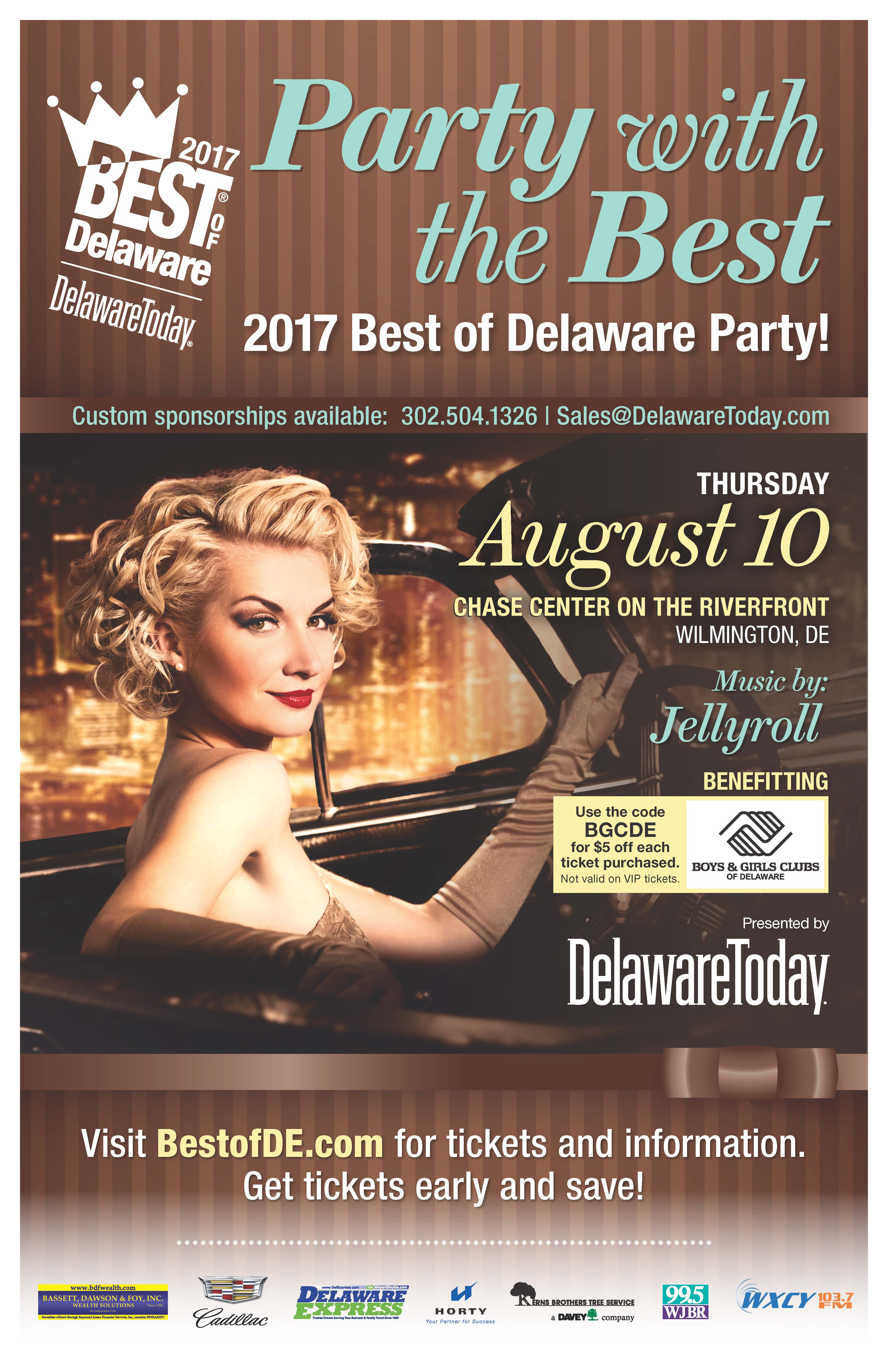 2017 Best of Delaware Party Benefiting Boys & Girls Clubs of Delaware