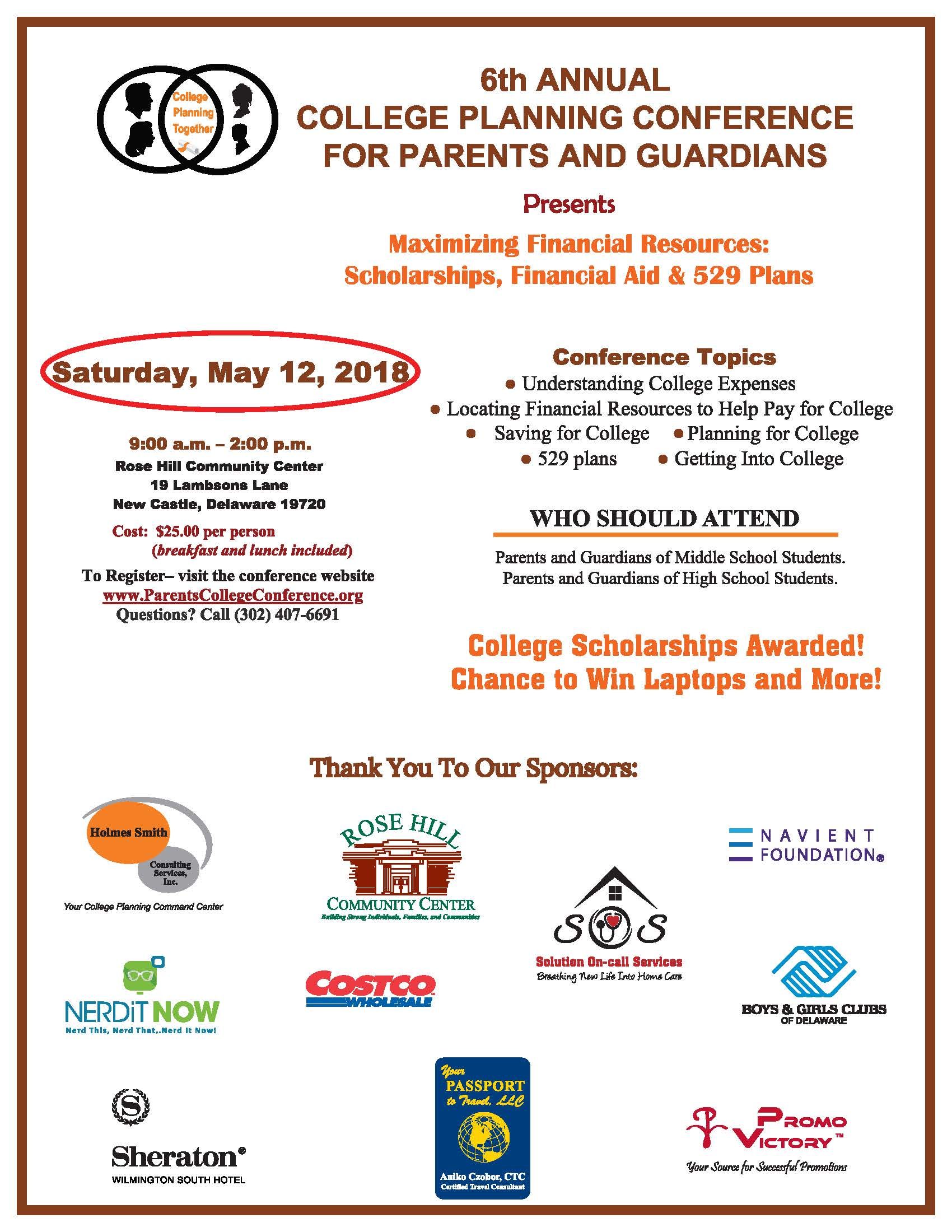 6th Annual College Planning Conference for Parents & Guardians