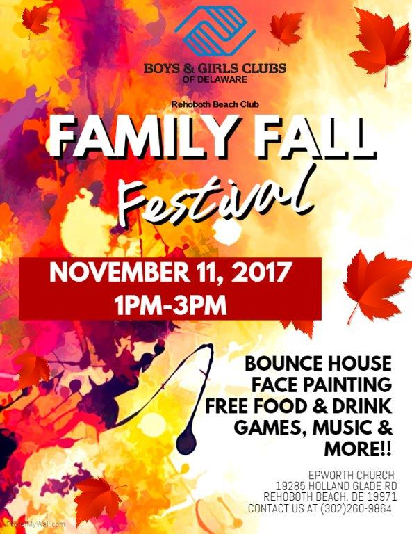 Family Fall Festival – Rehoboth Beach Boys & Girls Club