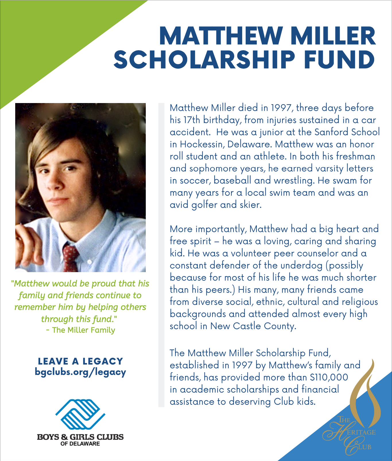 Matthew Miller Scholarship Fund