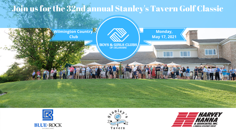 Join us for the 32nd annual Stanley's tavern Golf Classic. Wilmington Country Club. Monday, May 17, 2021.