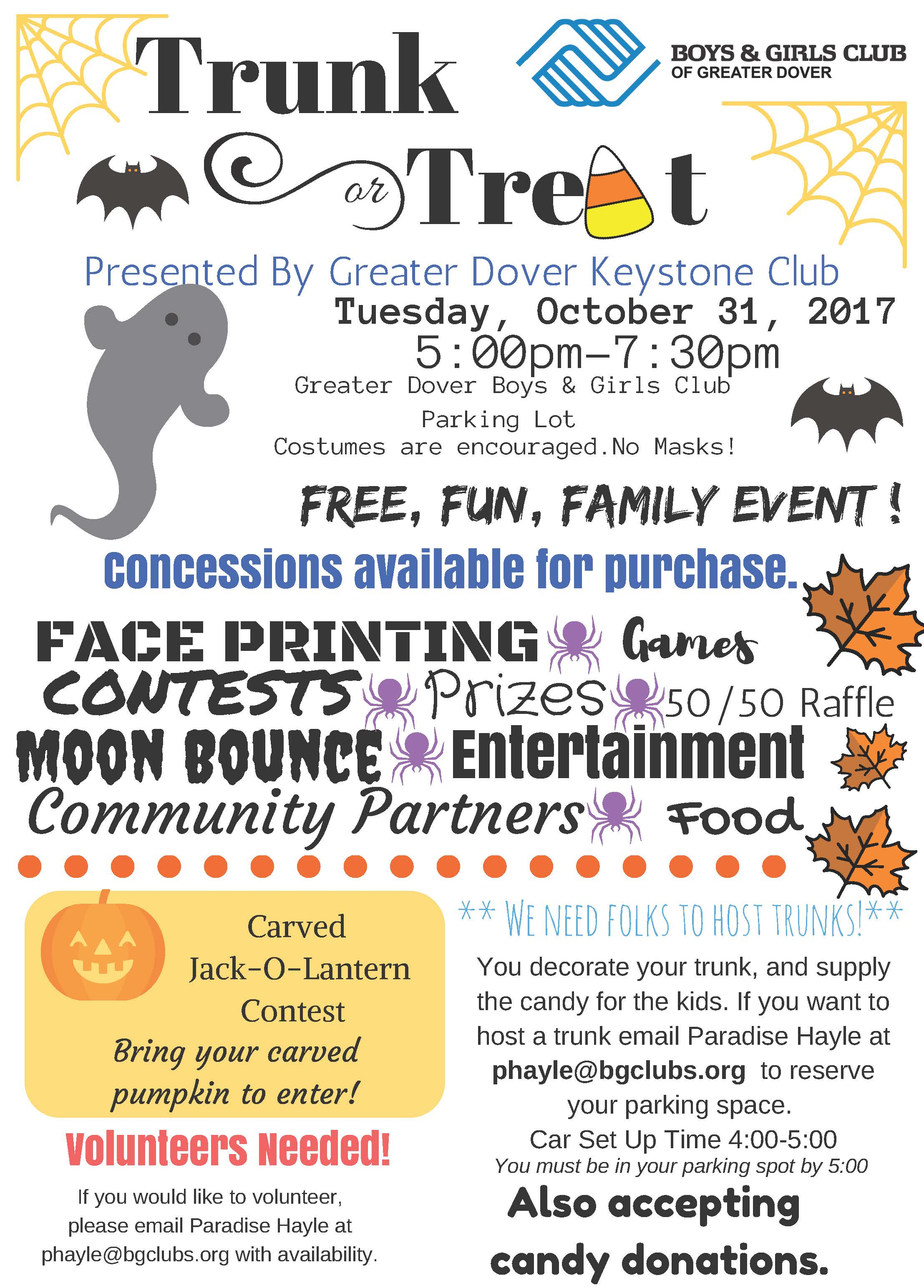 Greater Dover Trunk or Treat