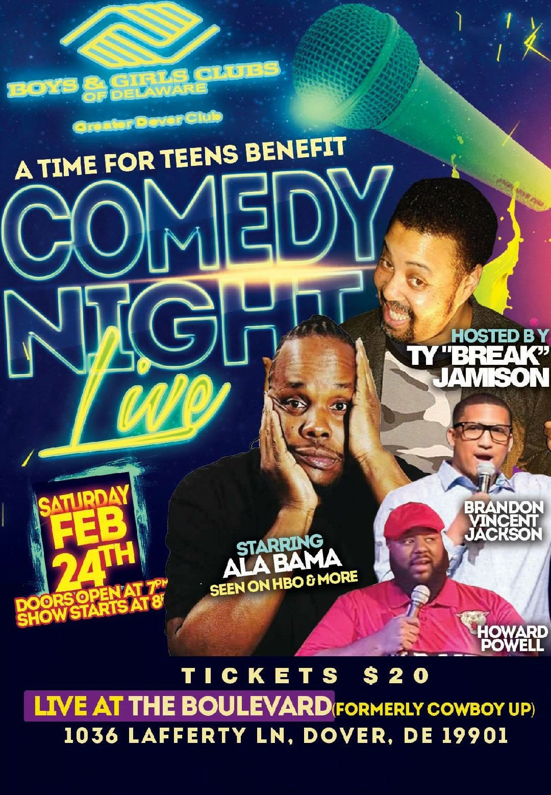 A Time for Teens Comedy Night